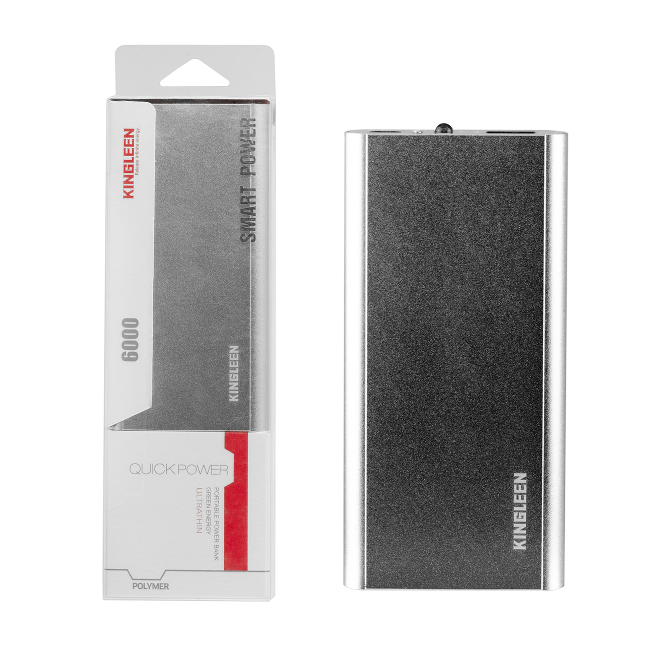 Power bank Kingleen 308S 6000 mAh 1XUSB Silver