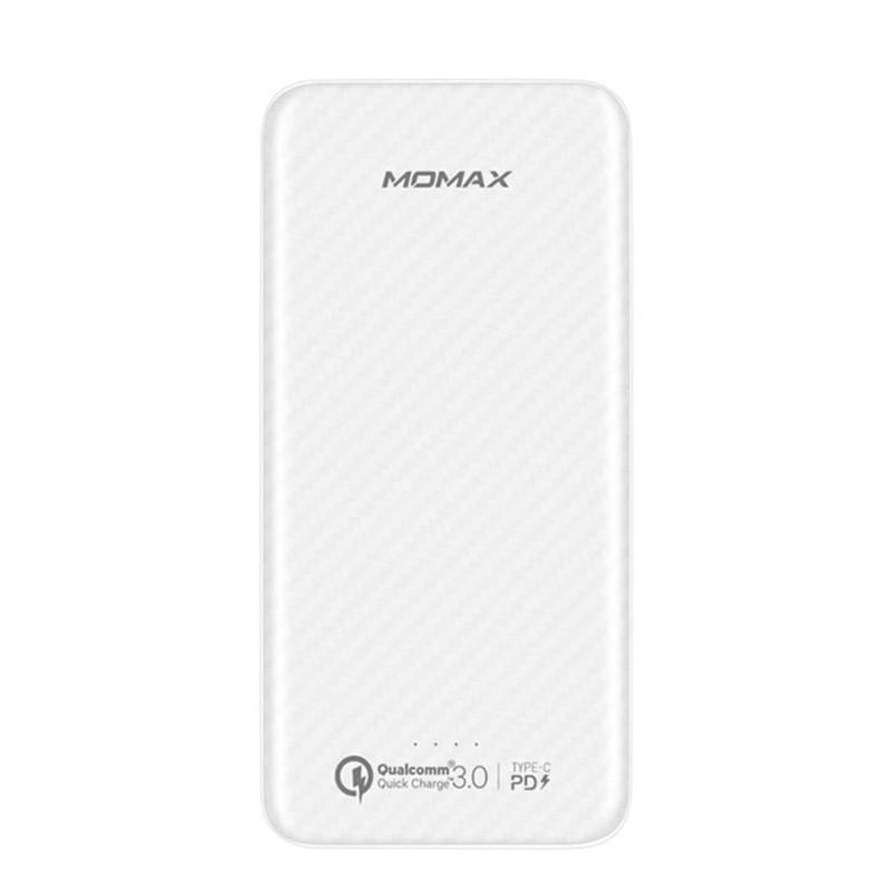 Power bank Momax iP65W iPower minimal PD 10000mAh 3XUSB Quick Charge 3.0 +PD White