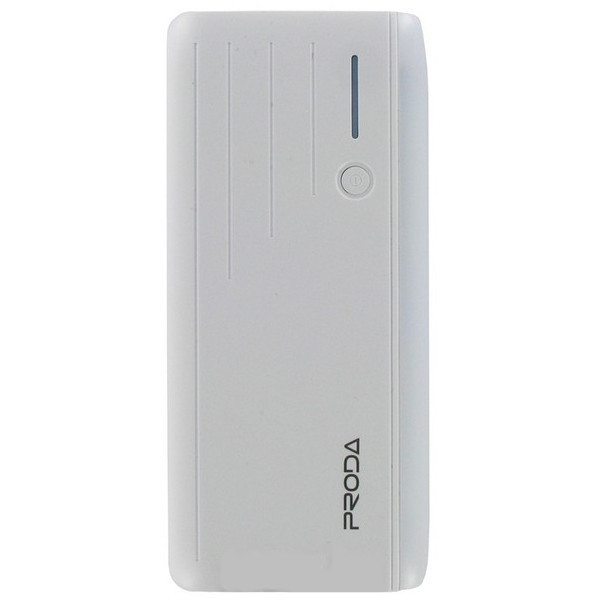 Power bank Proda Time PPL-19 12000mAh Strobe Lights 2xUSB 20A-2.1A White