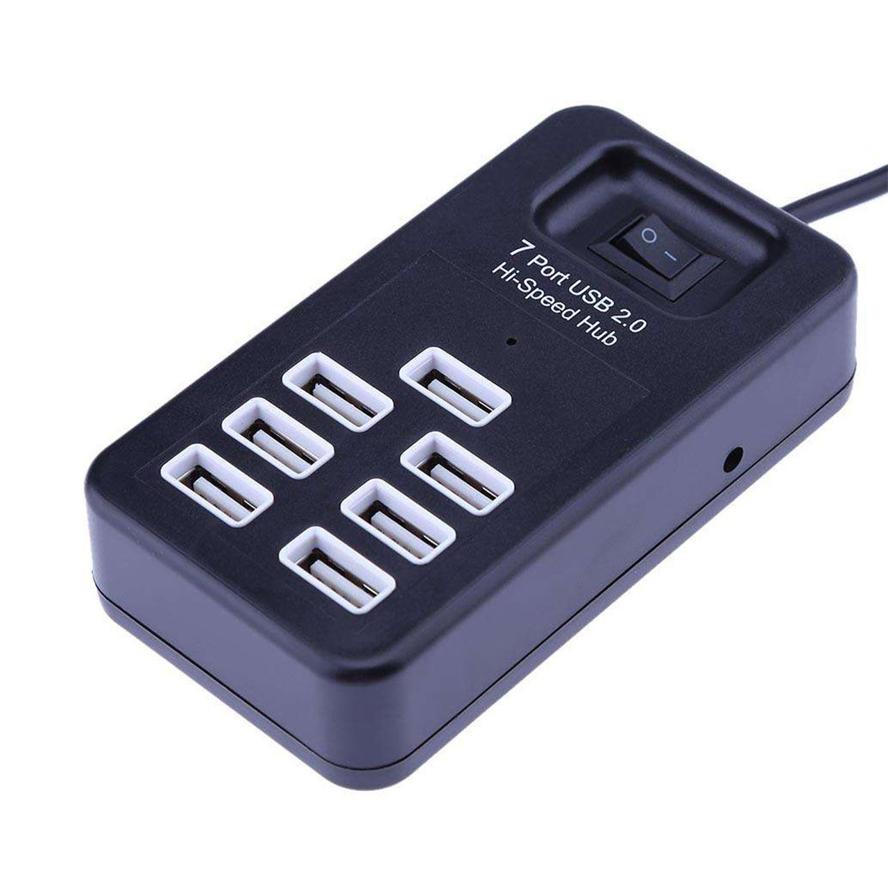 USB HUB P1602 7-port 480Mbps Black