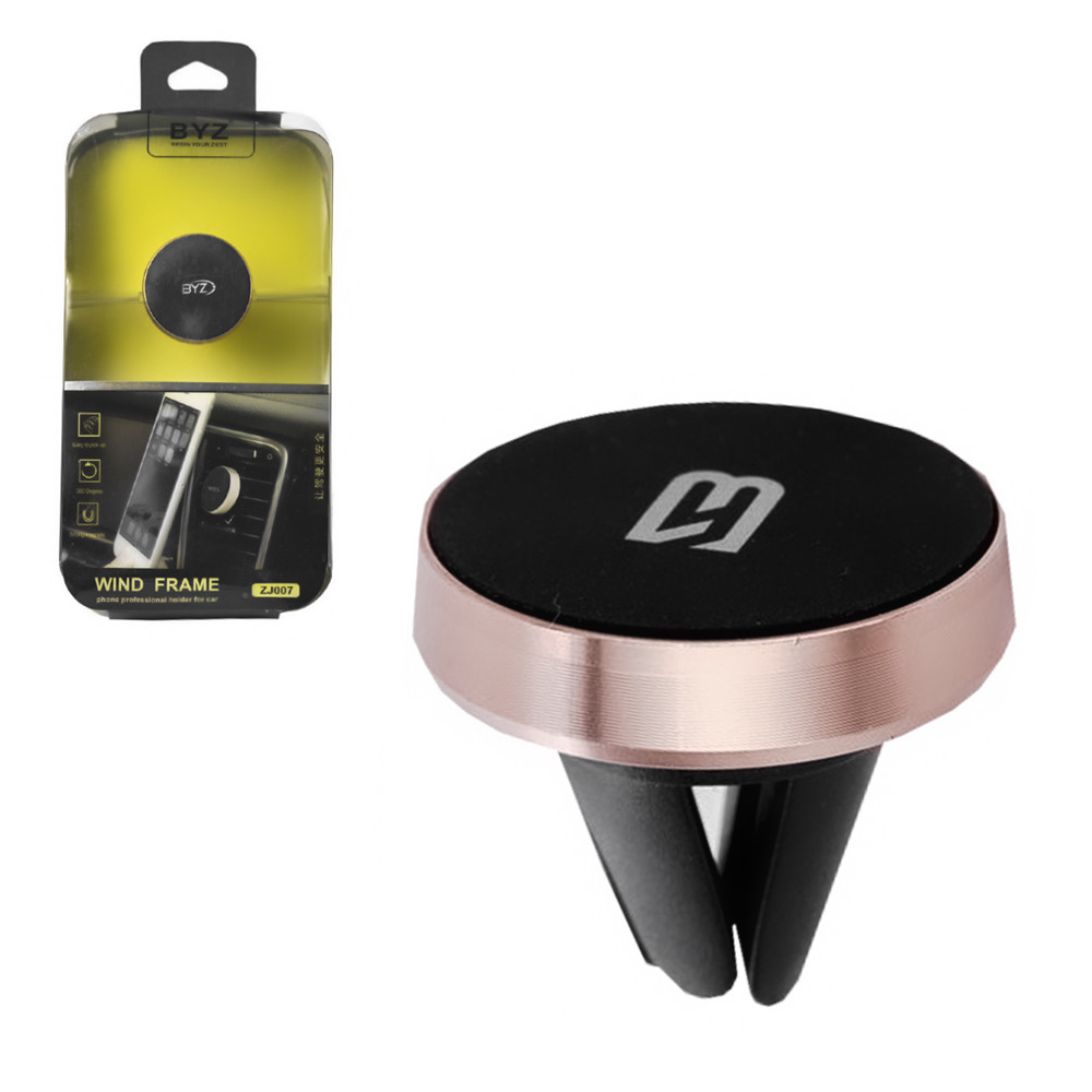 Автодержатель BYZ ZJ007 магнитный Black/Rose