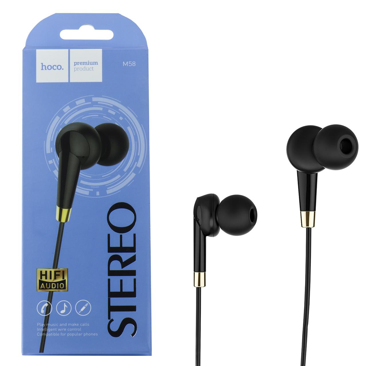 Гарнитура Hoco M58 Stereo HiFi Audio, Black