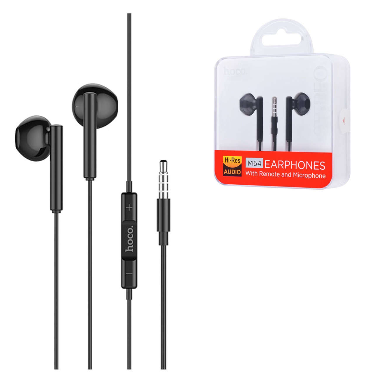 Гарнитура Hoco M64 Stereo Earphones, Black