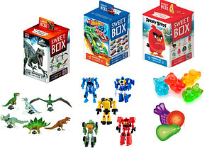 СВИТБОКС Мармелад с игрушкой в коробочке (для мальчиков разные виды) 10шт-упак