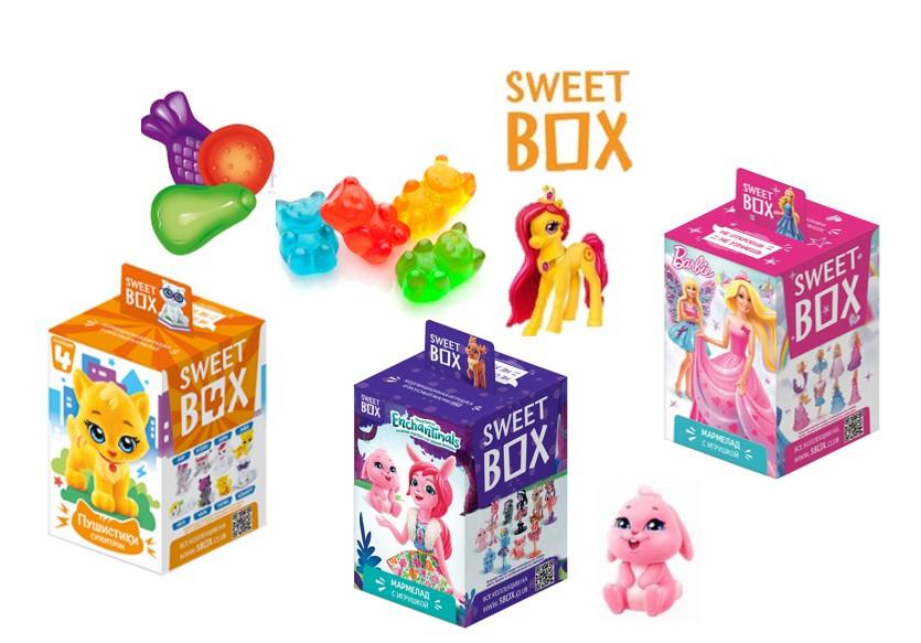 СВИТБОКС Мармелад с игрушкой в коробочке (для девочек разные виды) 10шт-упак 10гр.