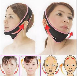 Бандаж косметический для подтяжки овала лица, от второго подбородка