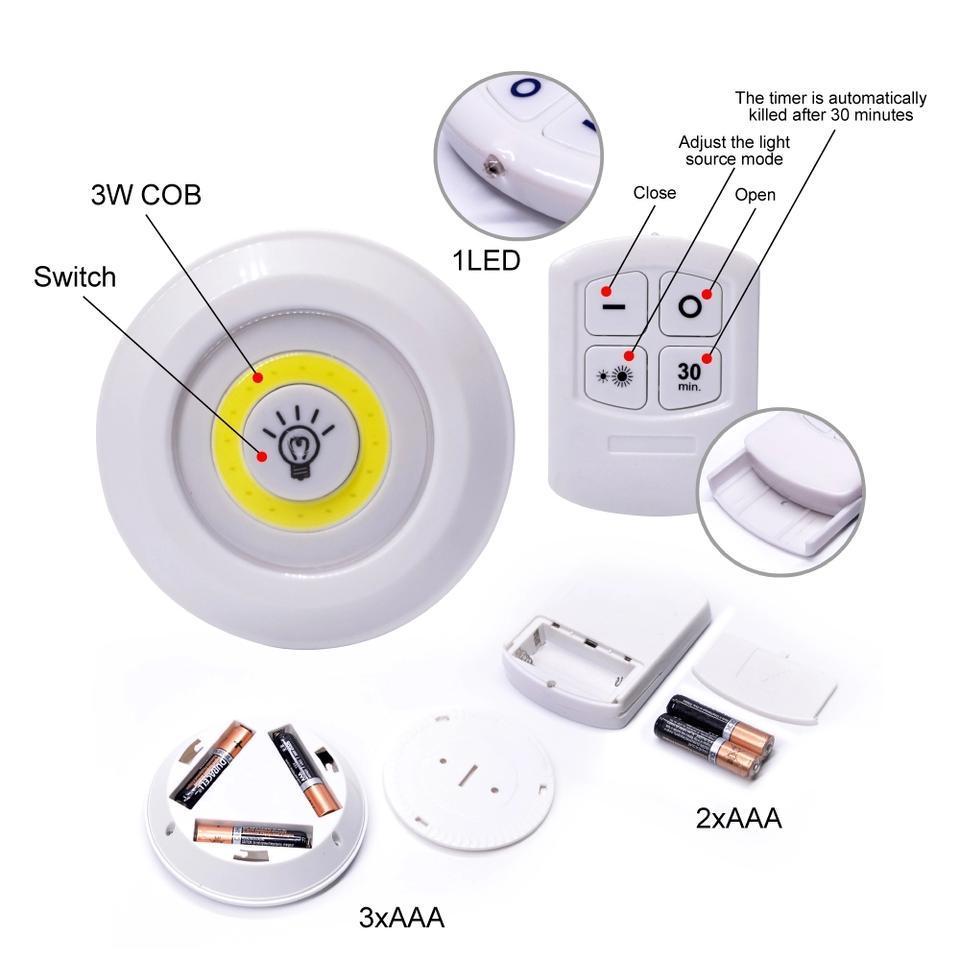 Комплект LED светильников с пультом д/у и таймером LED light with Remote
