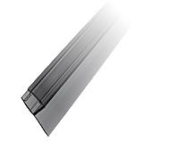Профиль DG-2 уплотнительный прозрачный черный L=2200 мм. для стекла 8 мм., фото 1