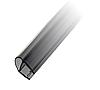 Профиль DG-4 уплотнительный прозрачный черный L=2200 мм. для стекла 8 мм.