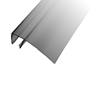 Профиль DG-15 уплотнительный прозрачный черный L-2200 мм. для раздвижной душевой, ус 26 мм. | FGD-213 BL