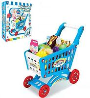 922-10 Тележка супермаркет синяя Shopping cart 56дет 51*41см