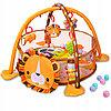 Немного помятая!!! 668-32 Игровой коврик Львенок с шариками 56*45см