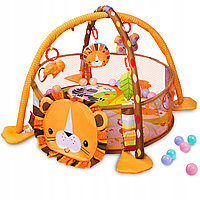 Немного помятая!!! 668-32 Игровой коврик Львенок с шариками 56*45см, фото 1