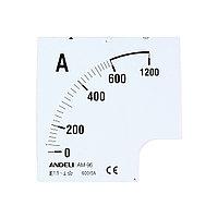 Шкала для амперметра ANDELI 600/5 96*96 (new)