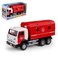 Грузовик инерционный «Пожарная служба», световые и звуковые эффекты