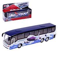 Автобус металлический инерционный «Аэропорт», световые и звуковые эффекты, двери открываются, 18,5 см