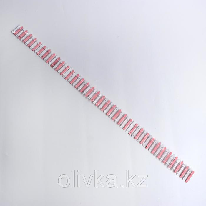 Миниатюра кукольная «Забор», размер 90×5 см, цвет бело-розовый - фото 3