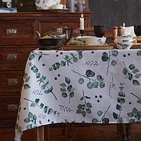 """Скатерть """"Доляна"""" Eucalyptus 220х144 см, 100% хлопок, 164 г/м2"""