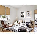 Рулонная штора «Плайн», 140 х 175 см, цвет кофейный, фото 3