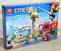 11213 Констр CITIES Пожар в бургер кафе, 39*27см, фото 1