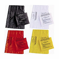 Пакет для медицинских отходов 400*600, Класс Б, В, желтого, красного цвета, 100шт