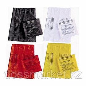 Пакет для медицинских отходов 500*600, Класс Б, В, желтого, красного цвета, 100шт
