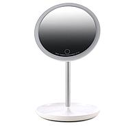 Зеркало косметические для макияжа с увеличением подсветкой и вентилятором