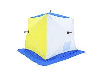 Палатка зимняя Стэк куб 3 ( трехслойная) ( дышащая ) 220см/220см/205с