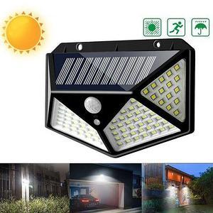 Светильник уличный LED 160° Solar Wall Lamp на солнечной батарее с датчиком движения (100LED)