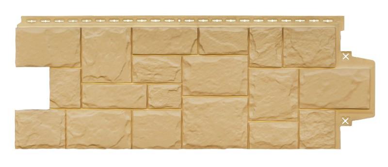 Панели фасадные Крупный Камень Песочный