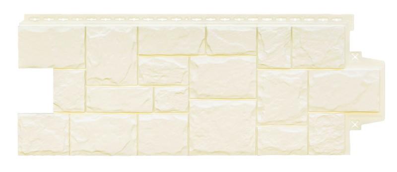 Панели фасадные Крупный Камень Молочный