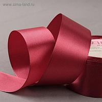 Лента атласная, 40 мм × 23 ± 1 м, цвет бордовый №120