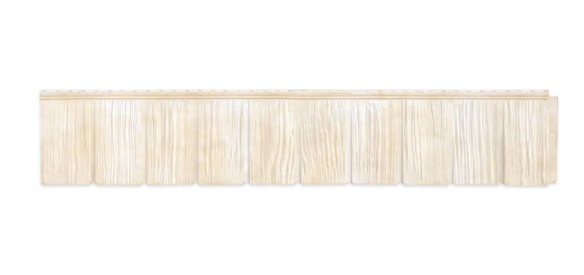 Панели фасадные Я-Фасад Сибирская дранка Слоновая кость
