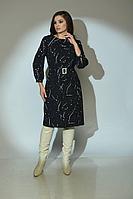 Женское осеннее черное платье Angelina 612 48р.