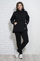 Женские осенние трикотажные черные брюки Белтрикотаж 4315Б черный 44р.