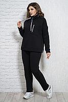 Женские осенние трикотажные черные брюки Белтрикотаж 4314Б черный 48р.