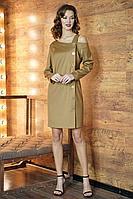 Женское осеннее желтое нарядное платье Fantazia Mod 3844 46р.