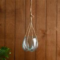Вазон стекло подвесной 'Эстетика' 35*10*10 см