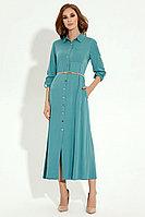 Женское осеннее из вискозы бирюзовое платье Prio 4780z бирюзовый 44р.