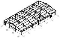 Металлоконструкции, каркас здания из балок