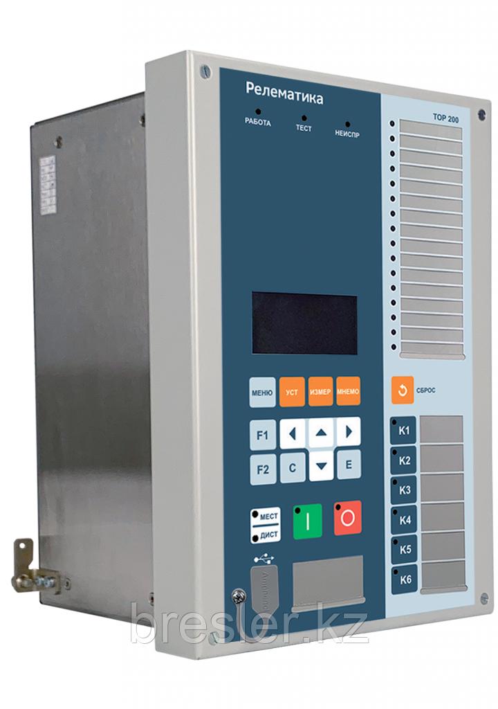 Устройство защиты и автоматики двигателя 6-10 кВ с дифференциальной токовой защитой с торможением
