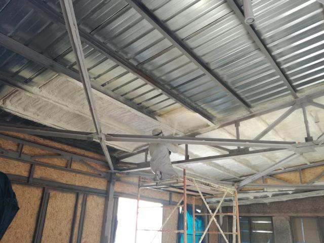 Утепление металлической крыши изнутри 8