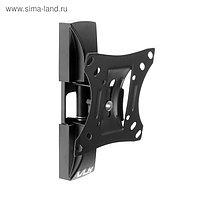 """Кронштейн VLK TRENTO-1, для ТВ, наклонно-поворотный, 10-32"""", 80 мм от стены, черный"""