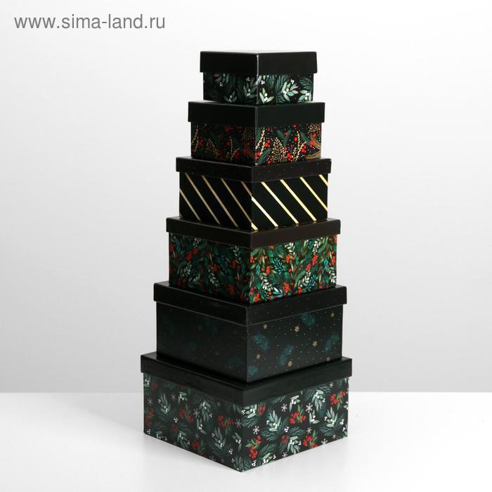 Набор подарочных коробок 10 в 1 «Новый год», 10.2 × 10.2 × 6 28.2 × 28.2 × 15 см - фото 2