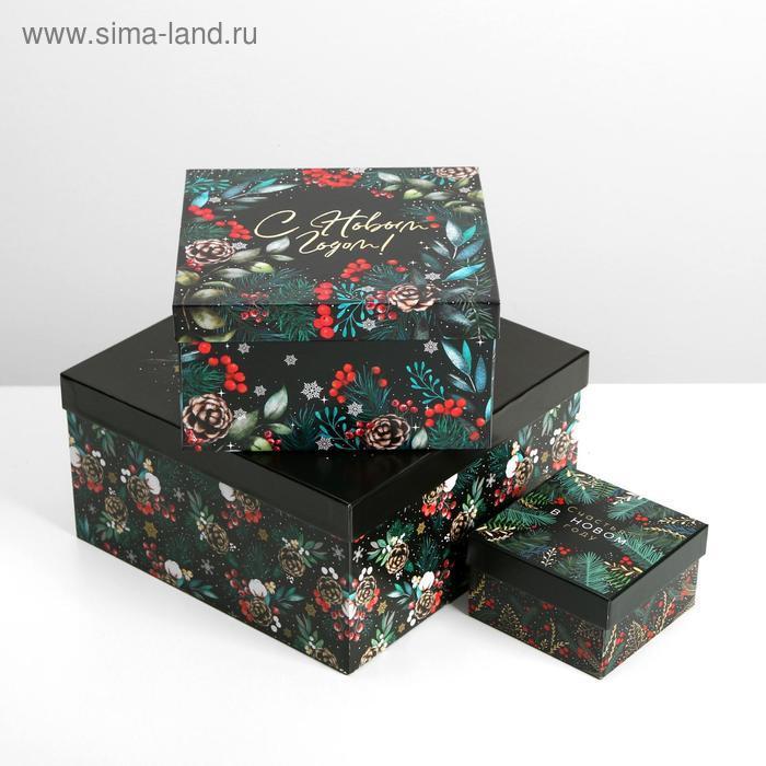 Набор подарочных коробок 10 в 1 «Новый год», 10.2 × 10.2 × 6 28.2 × 28.2 × 15 см - фото 4