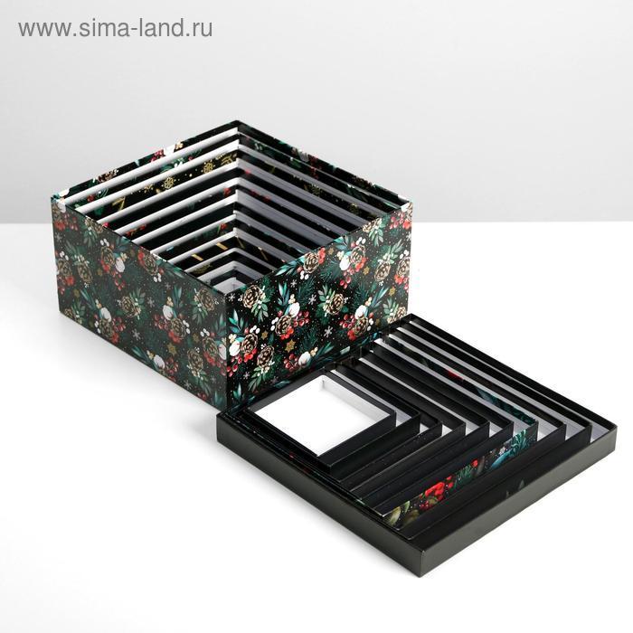 Набор подарочных коробок 10 в 1 «Новый год», 10.2 × 10.2 × 6 28.2 × 28.2 × 15 см - фото 7