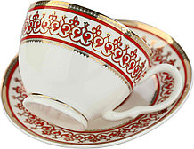Чайный набор с изображением казахского орнамета на две персоны