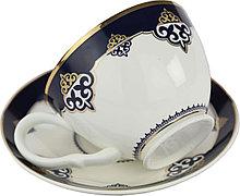 Чайный набор с изображением казахского национального орнамента на две персоны