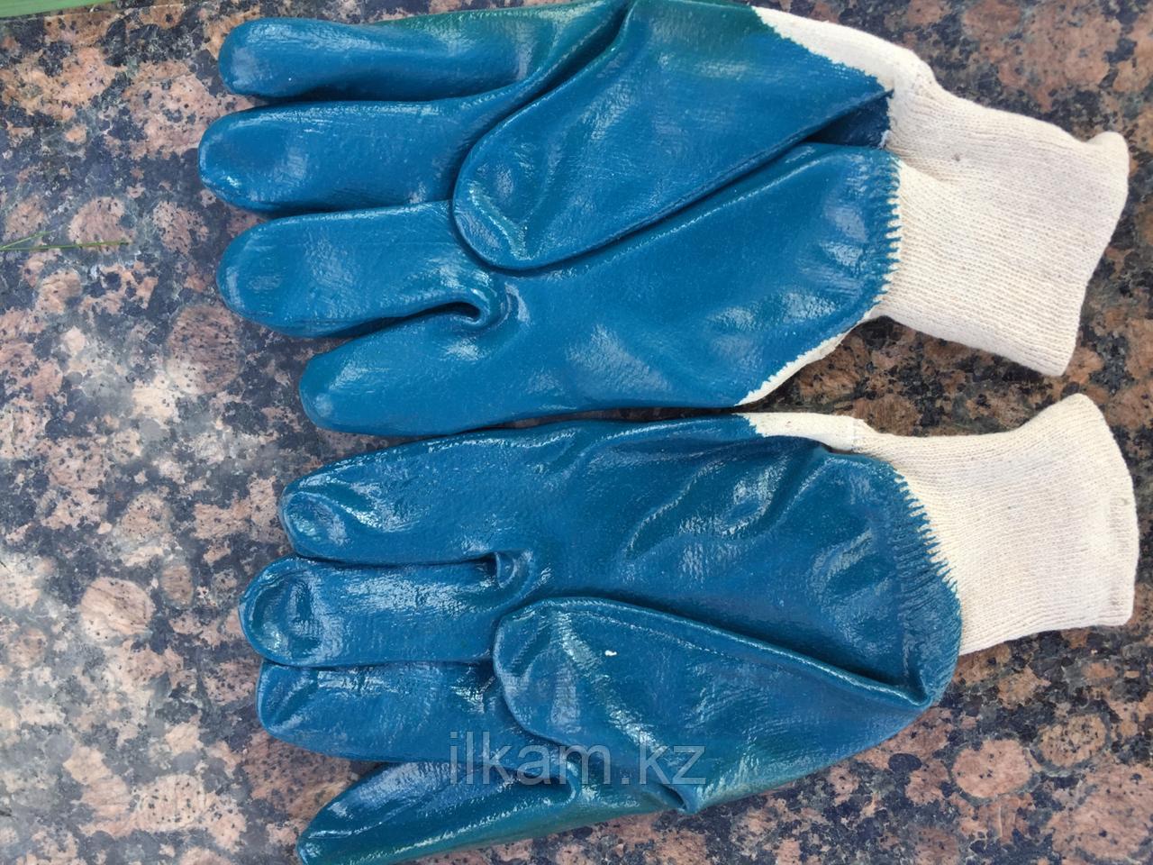 Перчатки маслобензиностойкие (МБС) с нитриловым покрытием