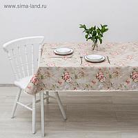 Скатерть на тканой основе с бейкой «Романтик», 135×160 см